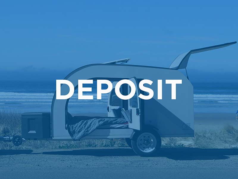 Pay the deposit and book the production slot of your teardrop camper