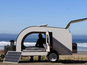 Enjoy the beach with our lightweight travel trailer