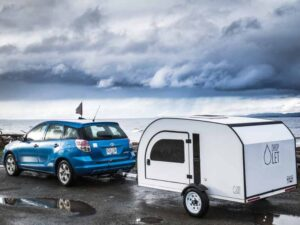 Travel across the country with the DROPLET teardrop trailer