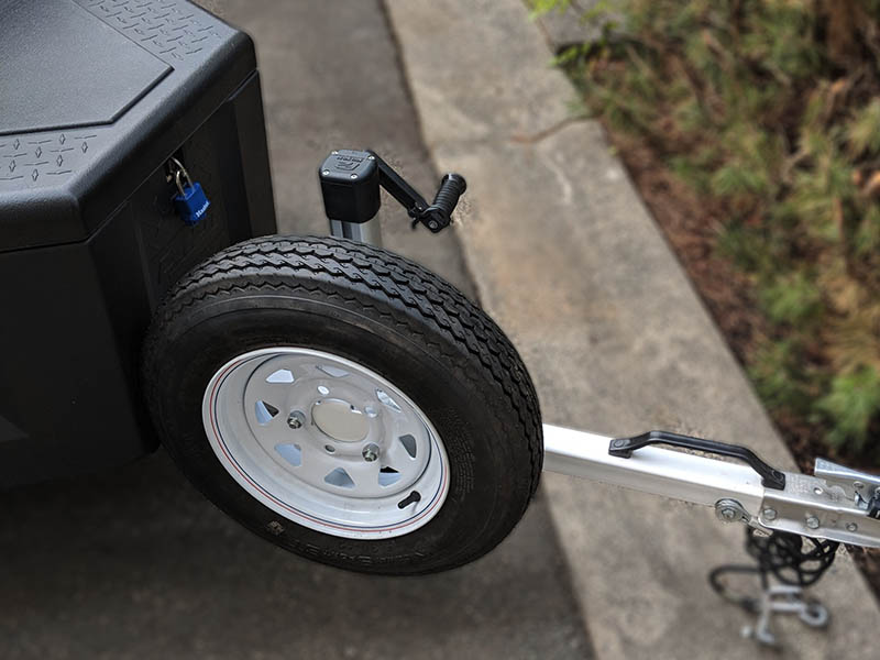 Travel with a peace of mind with the DROPLET travel trailer spare tire