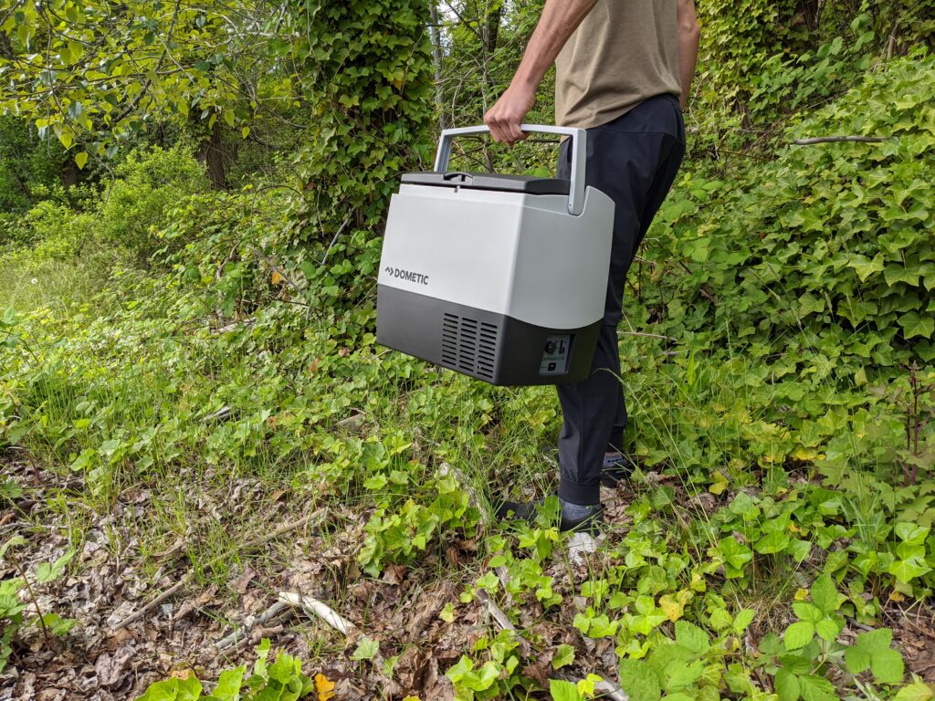 High efficiency camping fridge