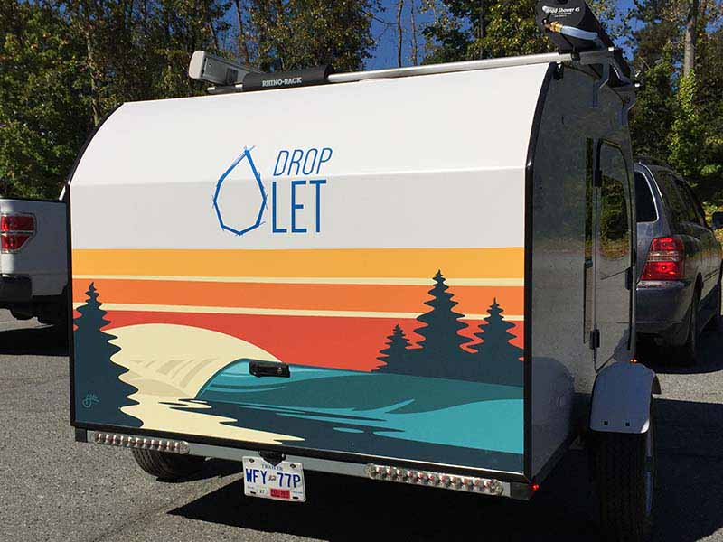 Artwork by AbelArts on the DROPLET Lightweight Teardrop Camper